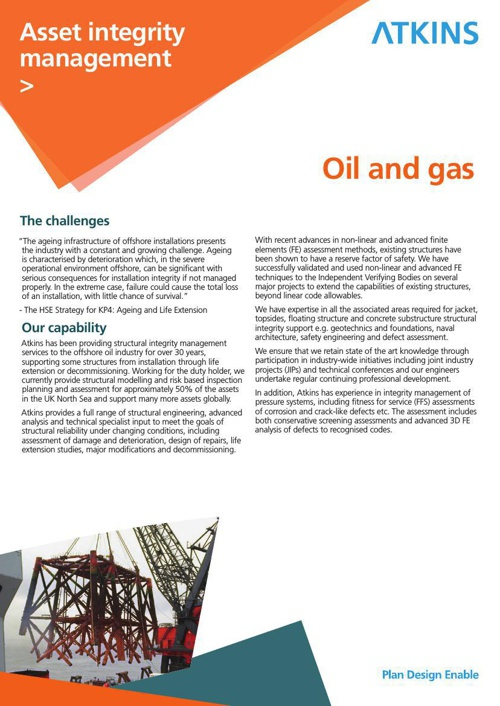 Atkins' Oil and Gas services flyers