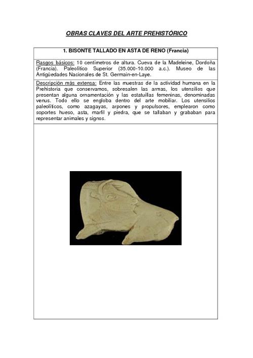 claves para el arte prehistorico