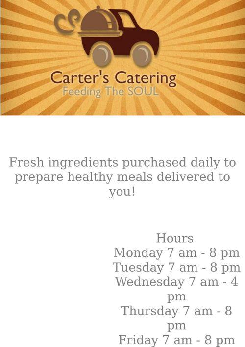 Carter's Catering Menu
