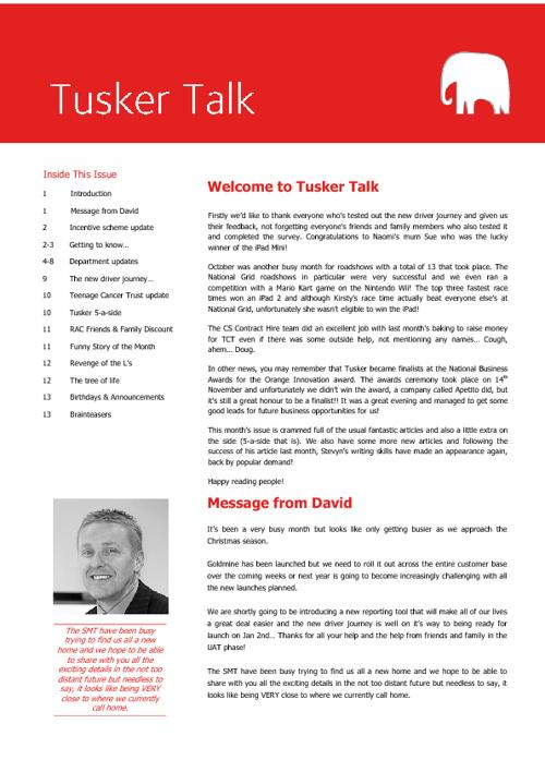 Tusker Talk Issue 6