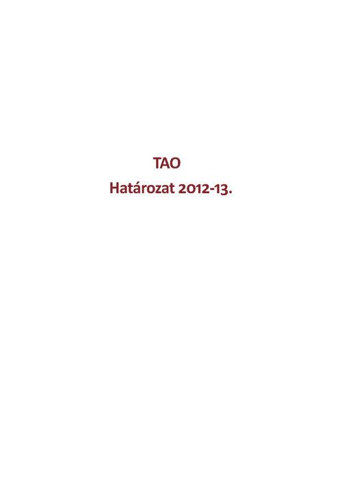 Határozat 2012-13.