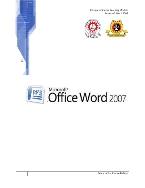 Module - Microsoft Word 2007