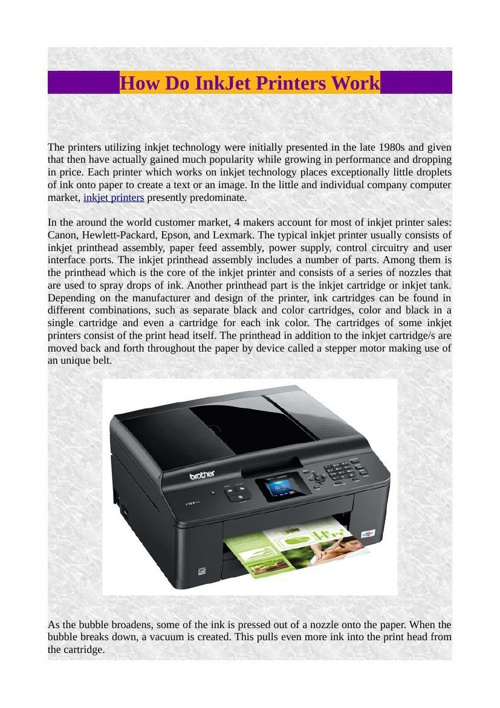 How Do InkJet Printers Work