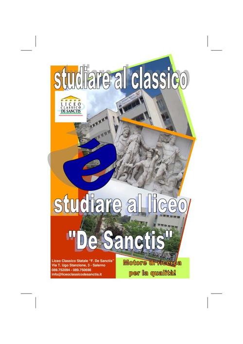 Studiare al liceo De Sanctis!