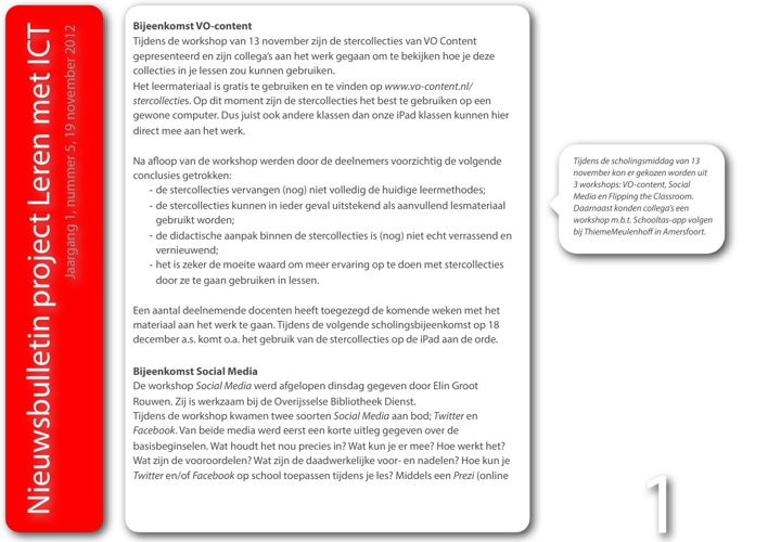 Nieuwsbulletin Leren met ICT, jaargang 1, nummer 5