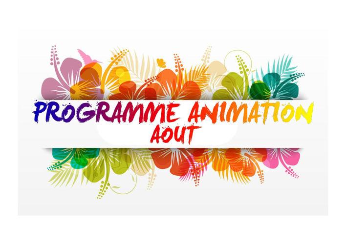 Programme animation AOUT 2016