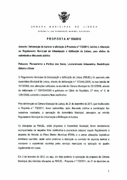 20120718 CML-RMUEL Proposta 353-2012 - Altera a proposta 732-201