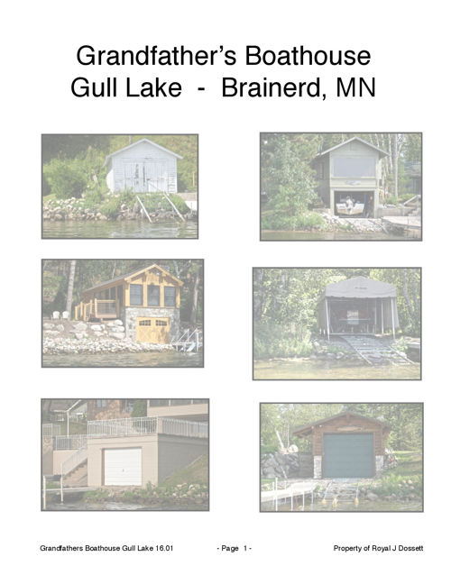 Gull Lake Boathouse Tour in Brainerd Minnesota