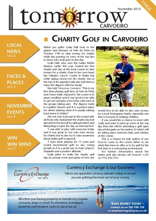 Tomorrow Carvoeiro, November 2012
