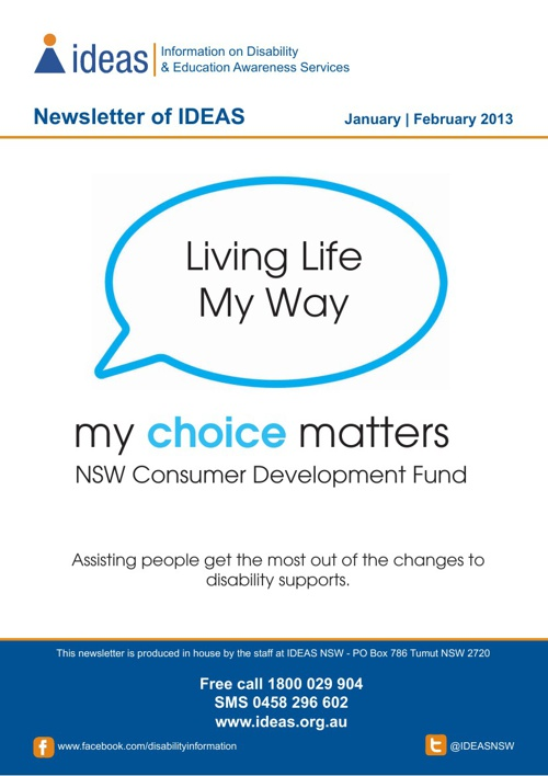 IDEAS January Newsletter