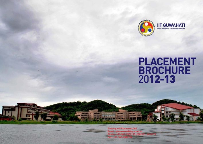 IIT Guwahati Placement Brochure 2012-13