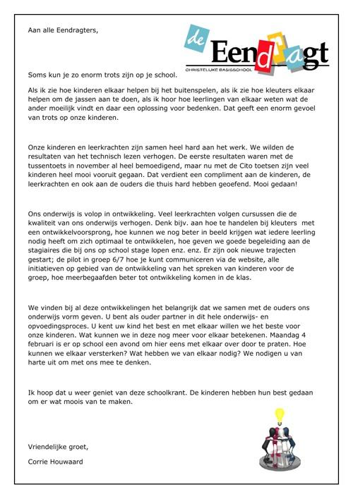 Schoolkrant Eendragt februari 2013