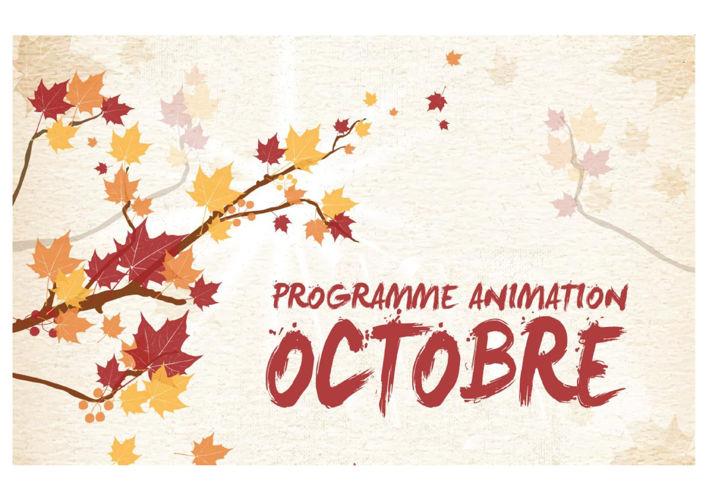 PROGRAMME ANIMATION OCTOBRE 2016