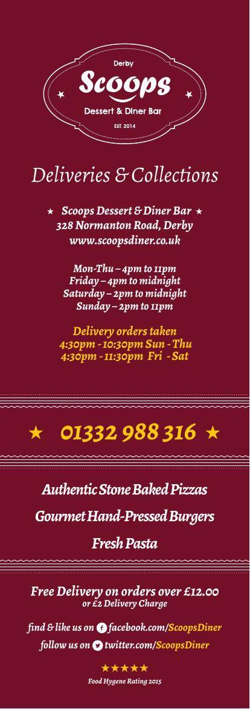 Scoops Diner Derby - Deliveries