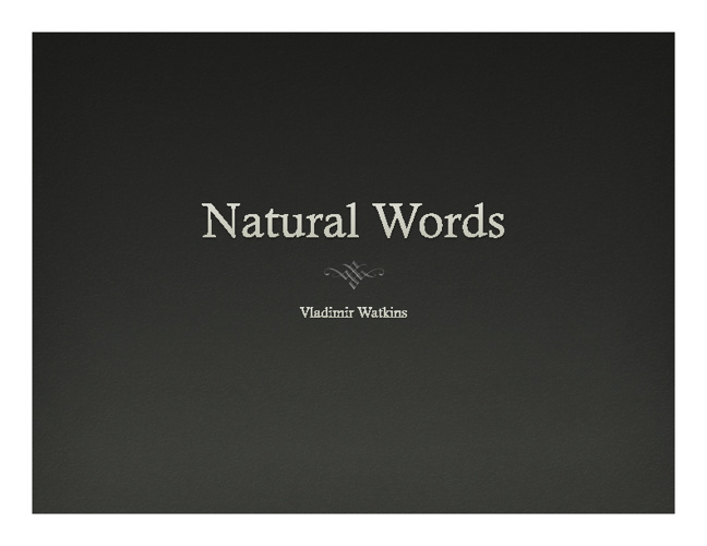 Natrual Words
