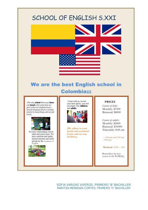 SCHOOL OF ENGLISH.