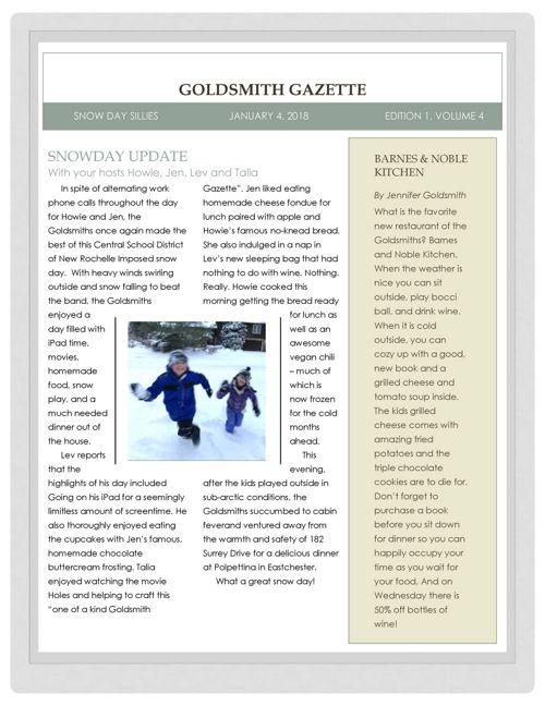 Goldsmith Gazette 2018-01-04