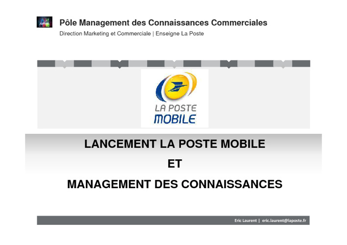 LPM et Management des connaissances