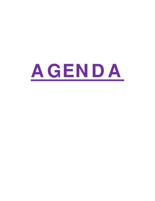 agenda ...talento humano