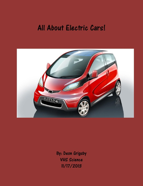 All About Electric Cars!