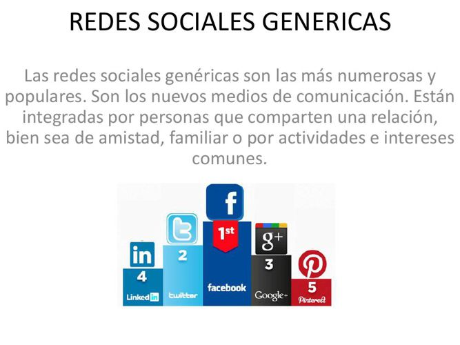 REDES SOCIALES GENERICAS