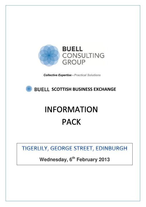 Buell Scottish Business Exchange E-pack
