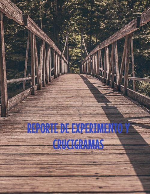 REPORTE DE EXPERIMENTO Y CRUCIGRAMAS