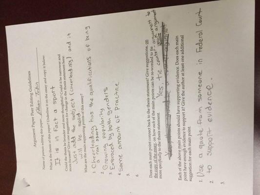 Argument Essay Edits