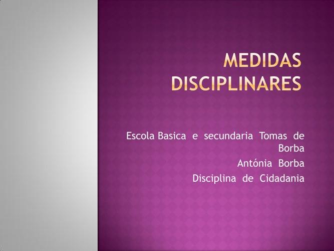 Medidas disciplinares 5º4