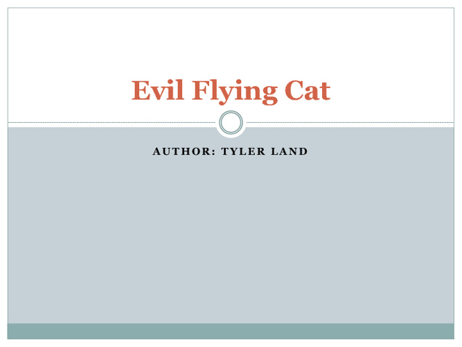 Evil Flying Cat by Tyler Land