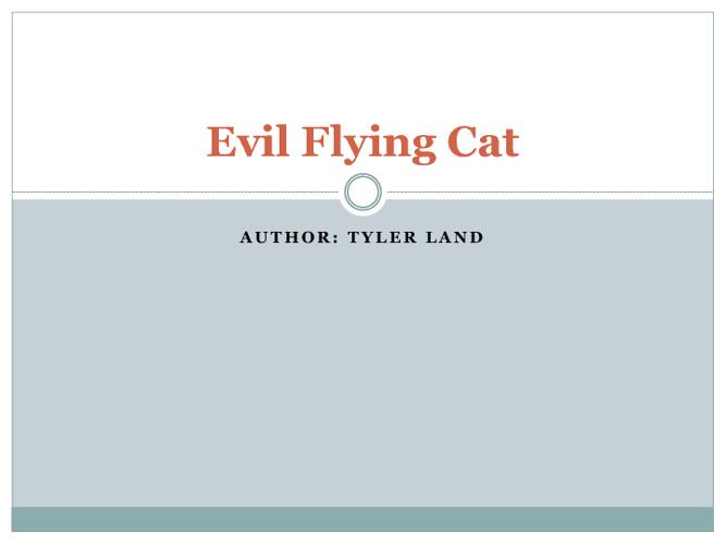 Evil Flying Cat by Tyler Land