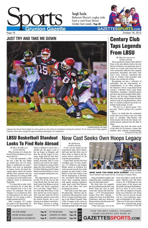 Gazette Sports | October 18, 2012