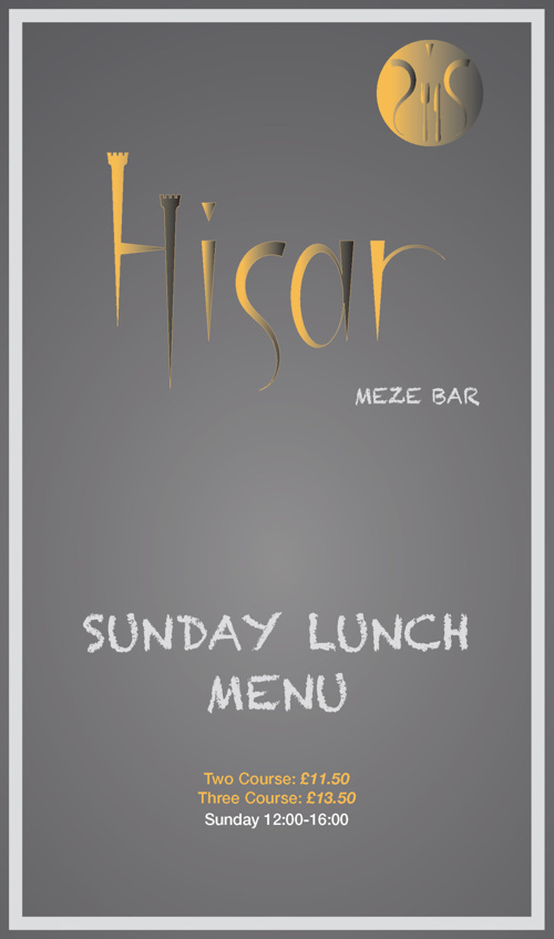 Hisar Meze Bar - Sunday Lunch Menu