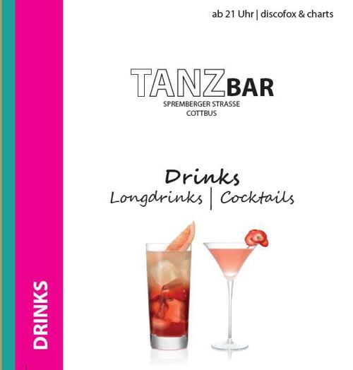 TanzBar Getränkekarte