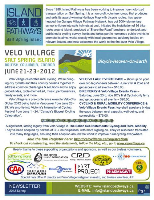 Island Pathways 2012 Spring Newsletter