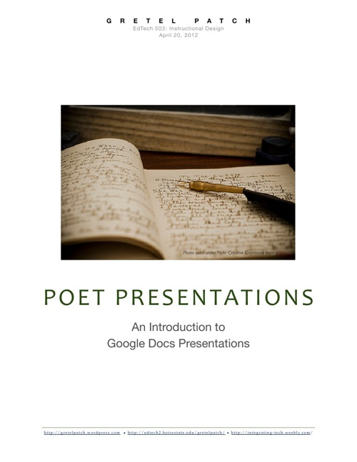 Poet Presentations: An Introduction to Google Docs Presentations