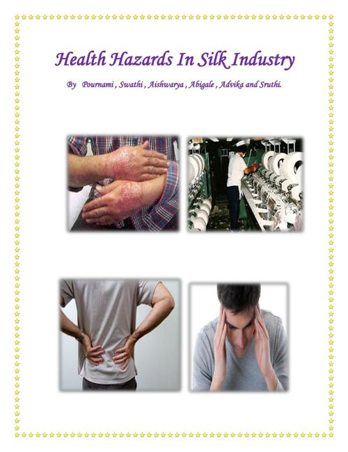 HEALTH HAZARDS IN SERICULTURE 1