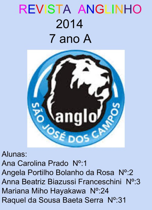 7º ANO A - GRUPO 4 - 2014