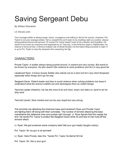 Saving Sergeant Davis