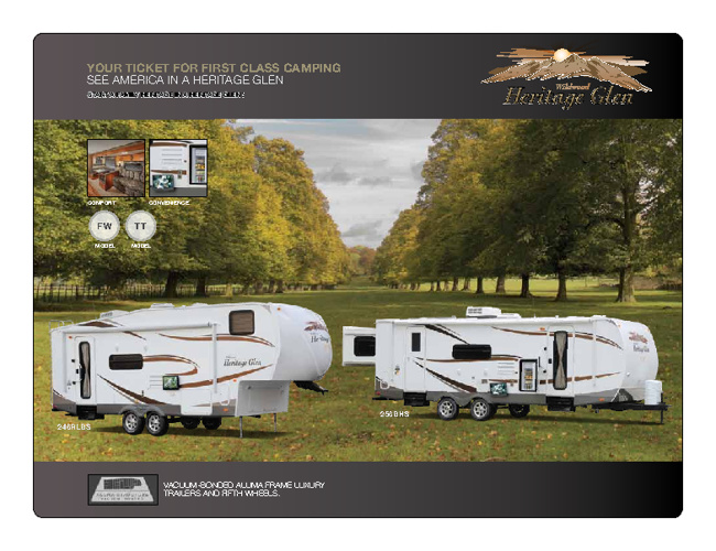 2011 Wildwood Heritage Glen by ForestRiver RV brochure