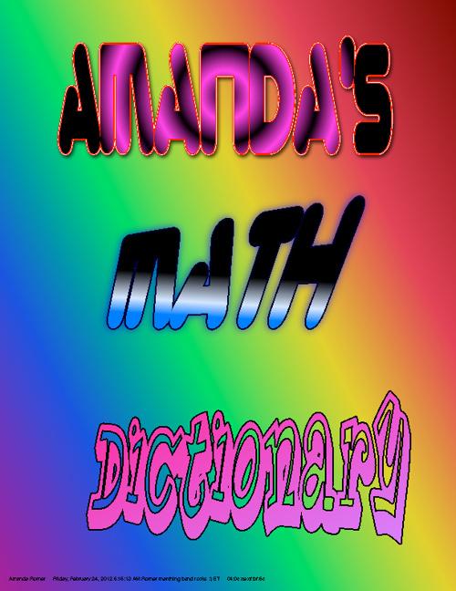 Amanda's math dictionary