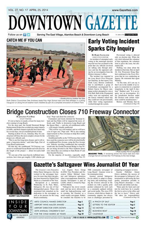 Downtown Gazette     April 25, 2014