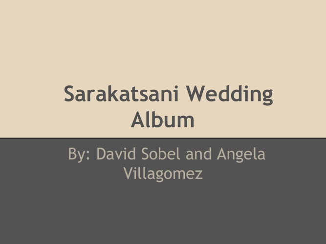 Sarakatsani Wedding Album
