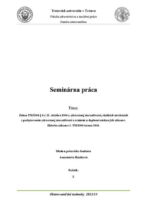 OST - Seminárna práca