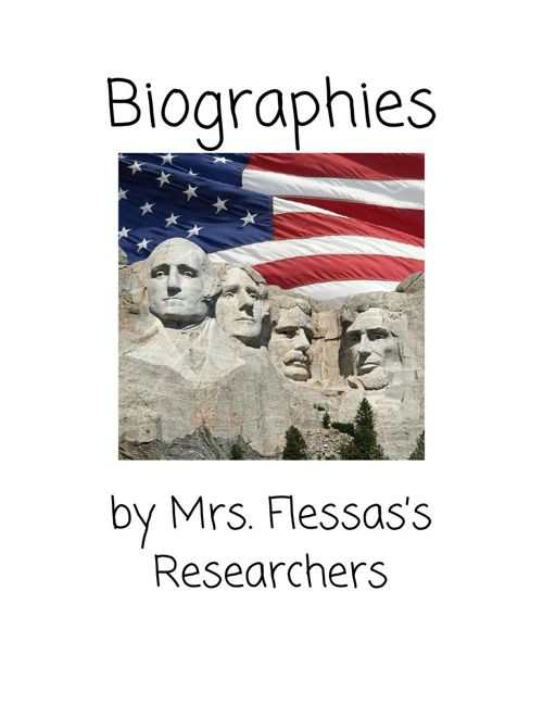 Biographies by Mrs. Flessas's Researchers
