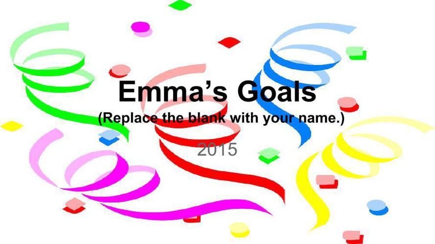 Goal Setting Template Emma Corriveau