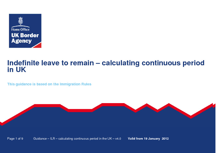 Indefinite leave to remain - calculating continuous period