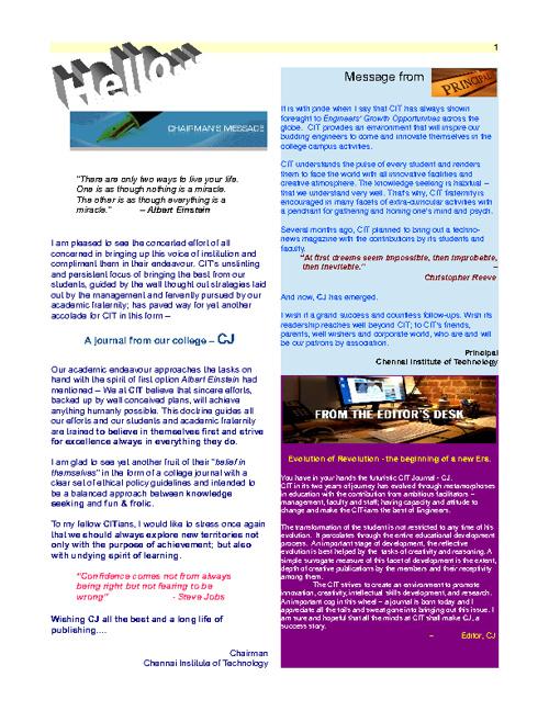 CIT Journal 1 of 2012 Rough Cut