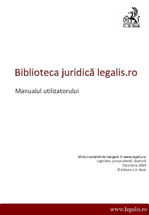 Legalis.ro - Manualul utilizatorului