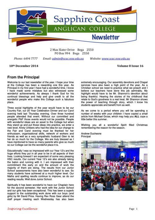 Newsletter Volume 8 Issue 16 2014